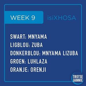 isiXhosa: Week 9