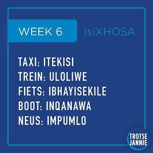 isiXhosa: Week 6