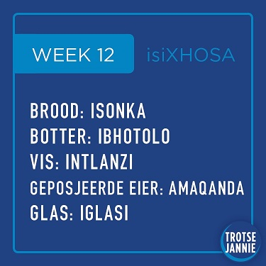 isiXhosa: week 12