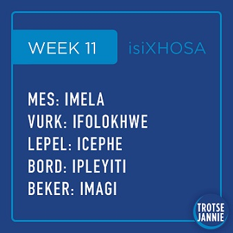 isiXhosa: week 11