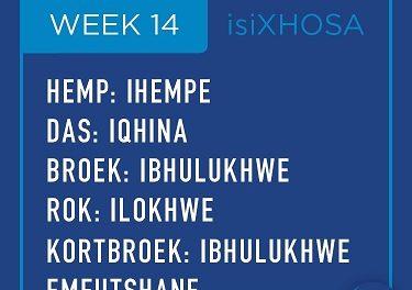 isiXhosa: week 14