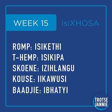 isiXhosa: week 15