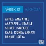 isiXhosa: week 13