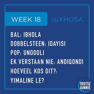 isiXhosa: week 18