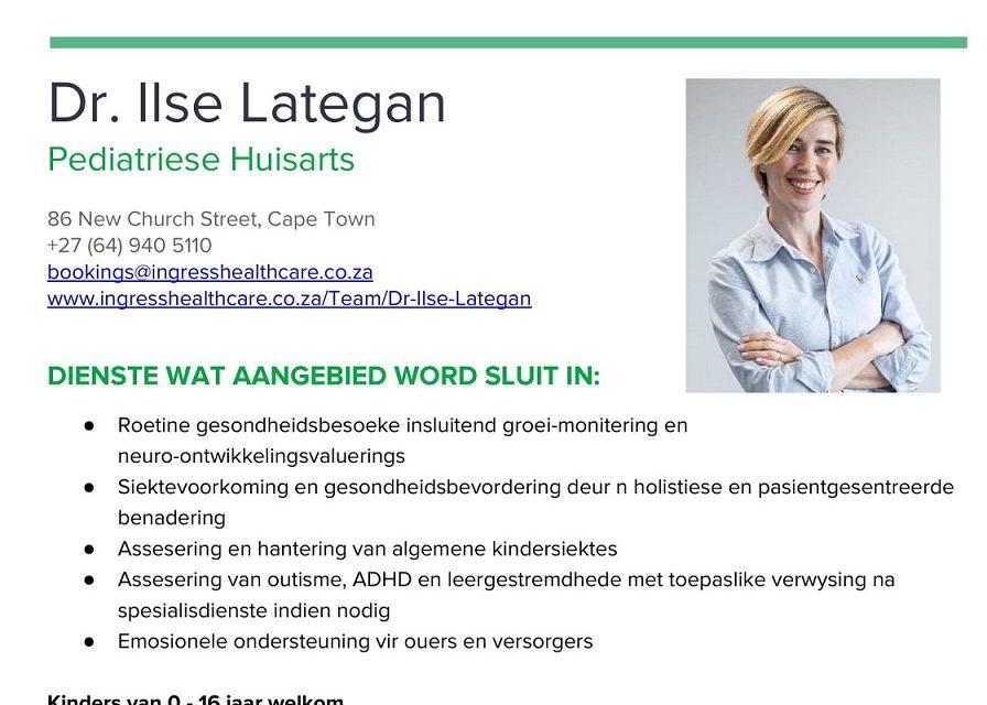 DR. ILSE LATEGAN – PEDIATRIESE HUISARTS