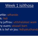 isiXhosa 2020: week 1
